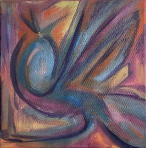 """Birdsong, Oil on Canvas, 6x6"""""""