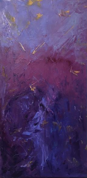 """Birdsong, 12 x 24"""", Oil on Canvas"""