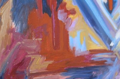 "Detail, Full of Grace, 18x24"", Oil on Board"