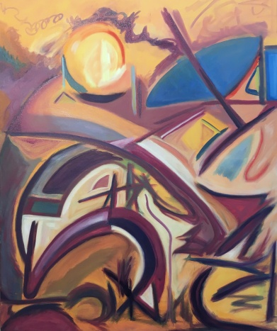 "Phoenix, Oil on Canvas, 30 x 40"""