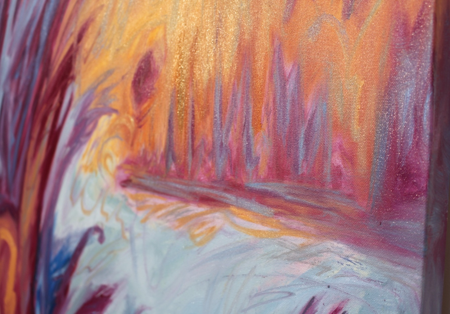 "Detail, The Fall, 30 x 40"", Oil on Canvas"