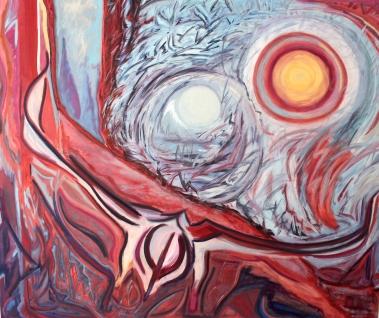 "The Veil is Torn, 60x72"", Oil on Museum Depth Linen"