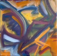 "Wingspan, Oil on Canvas, 6x6"""